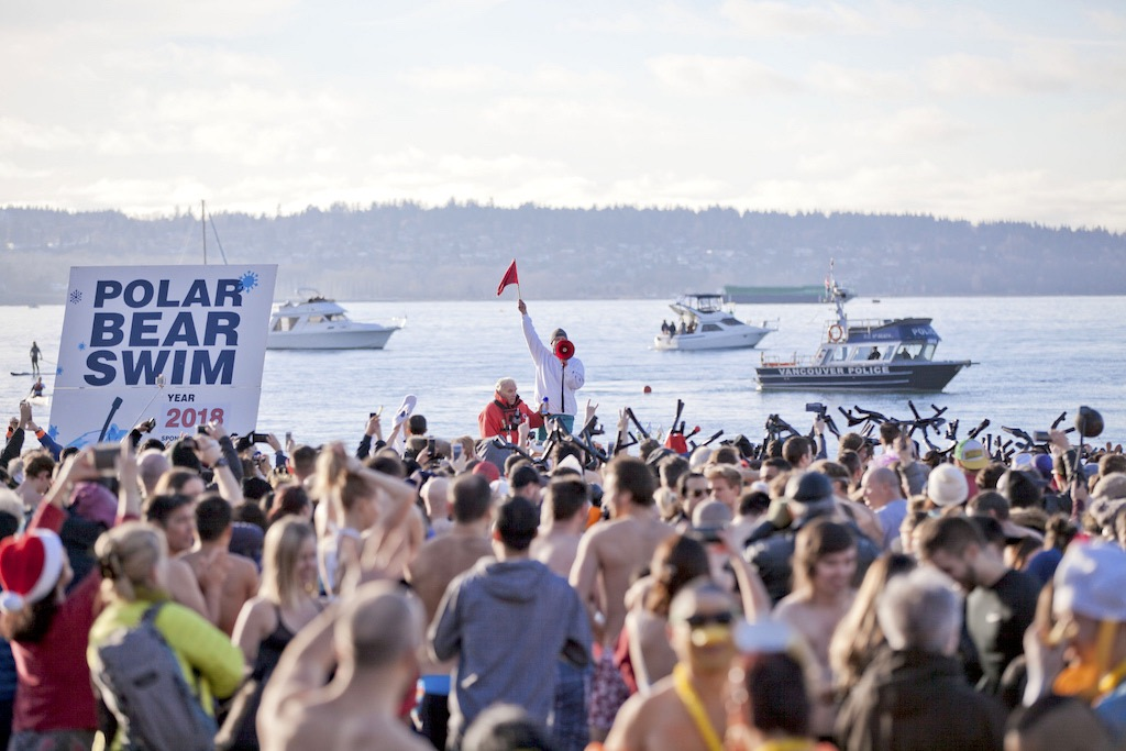 Polar Bear Swim 2018 English Bay Vancouver Downtown