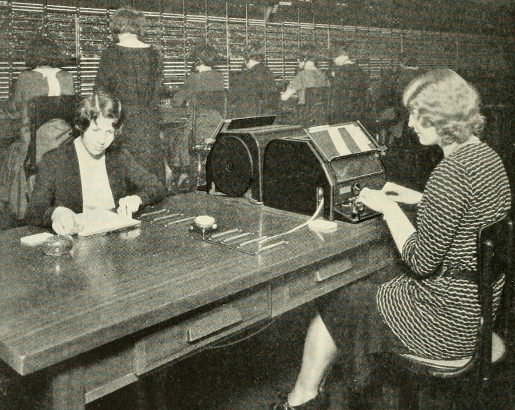 1920s technology - switchboard operator
